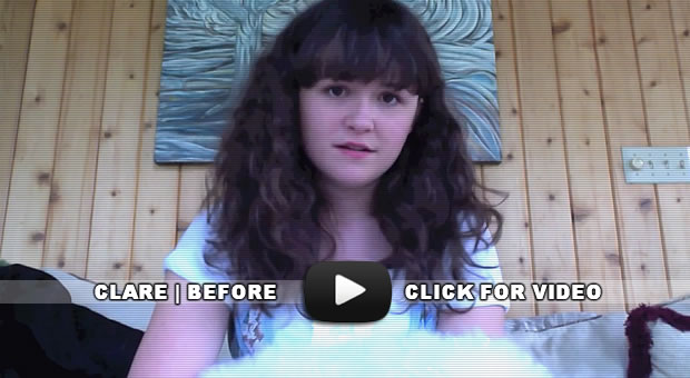 "Clare's ""before"" video"
